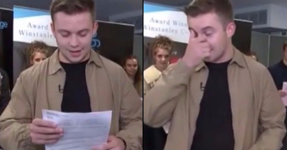 Guy left devastated with A-Level results live on TV but had the perfec...