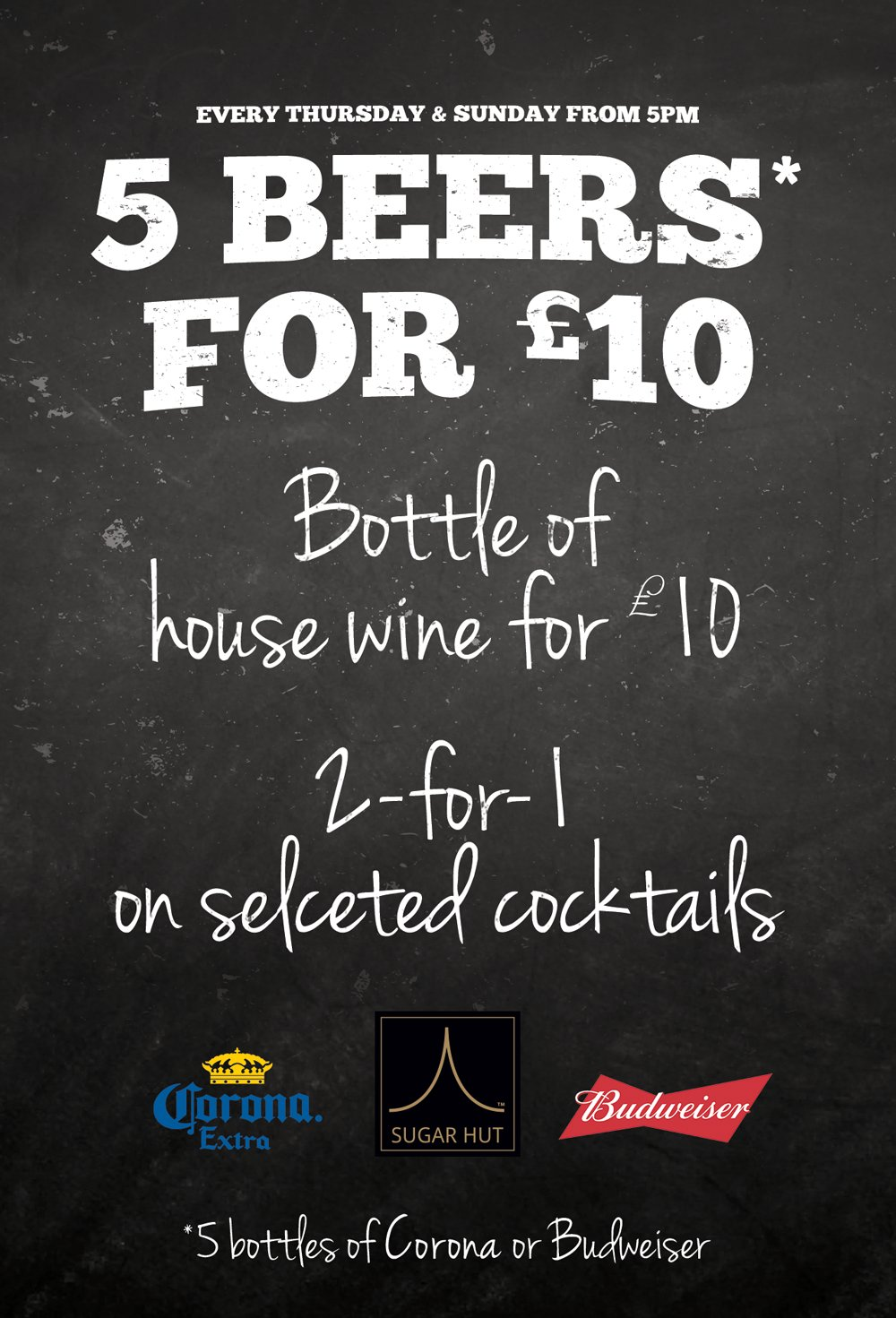 Celebrate #alevelresultsday with friends at #SugarHut!  5 x Beers: £10 😲 Bottle of Wine: £10 😲 2-for-1 Cocktails 😲 https://t.co/AQNmaCpdTR