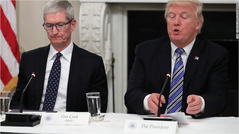 Apple CEO Tim Cook says President Donald Trump's response to Charlottesville contradicts American values https://t.co/a3ncMLlzvL