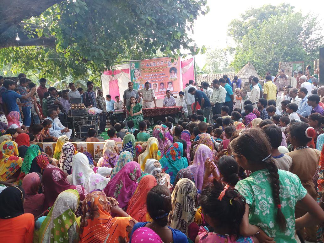 गाँव मकौदंपुर, बहेड़ी की सार्वजानिक सभा के दौरान न्यू इंडिया की शपथ भी...