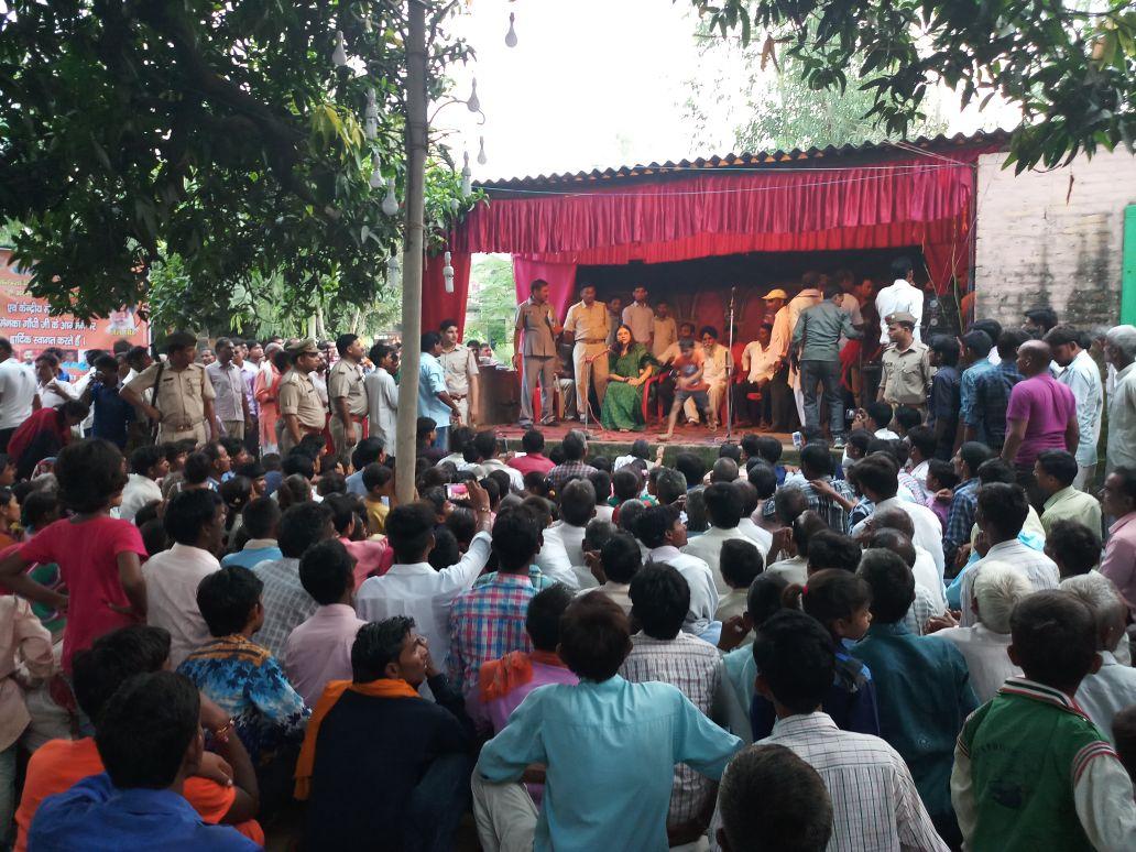 गाँव कुतुबपुर, बहेड़ी में जनता सभा के दौरान न्यू इंडिया शपथ ग्रहण समार...
