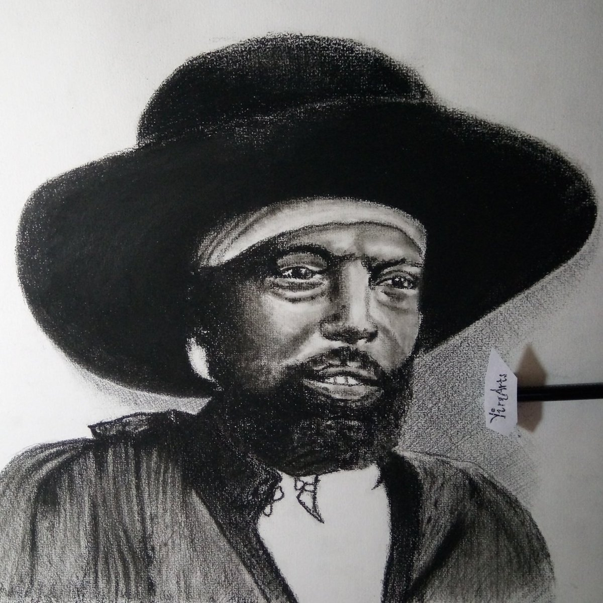 It&#39;s my extreme privilege to #sketch the #portrait of Emperor Menelik &amp; dedicate to all #Ethiopia n as we celebrate his Birthday today. #HBD<br>http://pic.twitter.com/qtUNjP3fTD