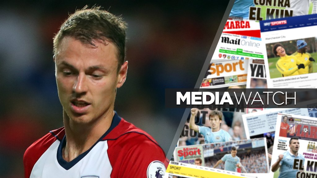 Bids launched for Sanchez and Evans, plus 'City are in Mbappe's head'...?  Media Watch 📰 https://t.co/b90NAm4tBm #mancity
