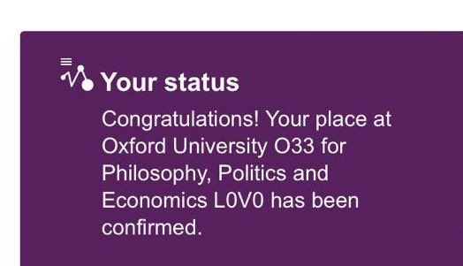 So excited to go to Oxford!! Well done to all A-level students - the h...