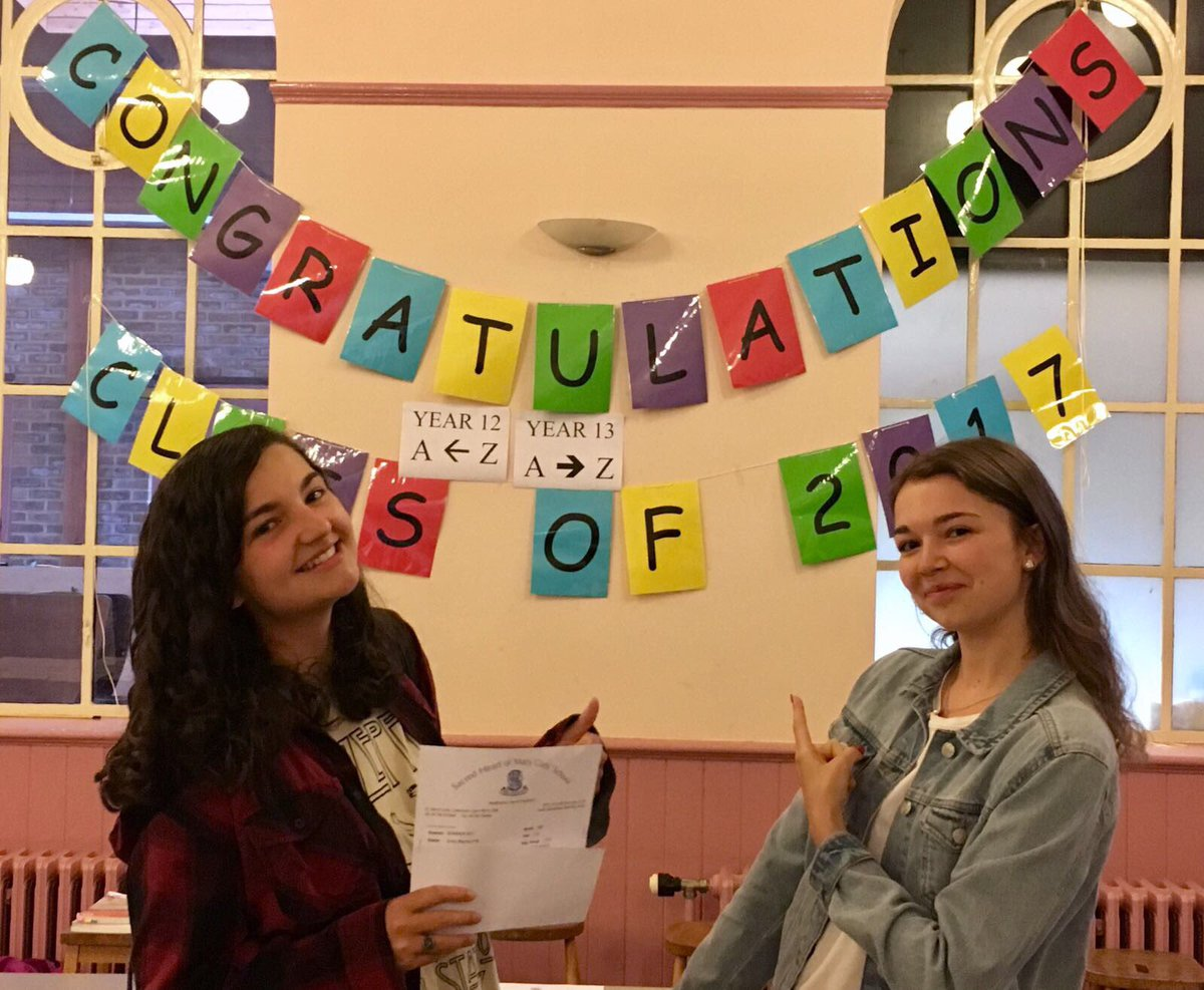 A big congratulations to Emily Pye, left, & Georgina Tyler who achieved four A*s and two As between them #alevelresultsday