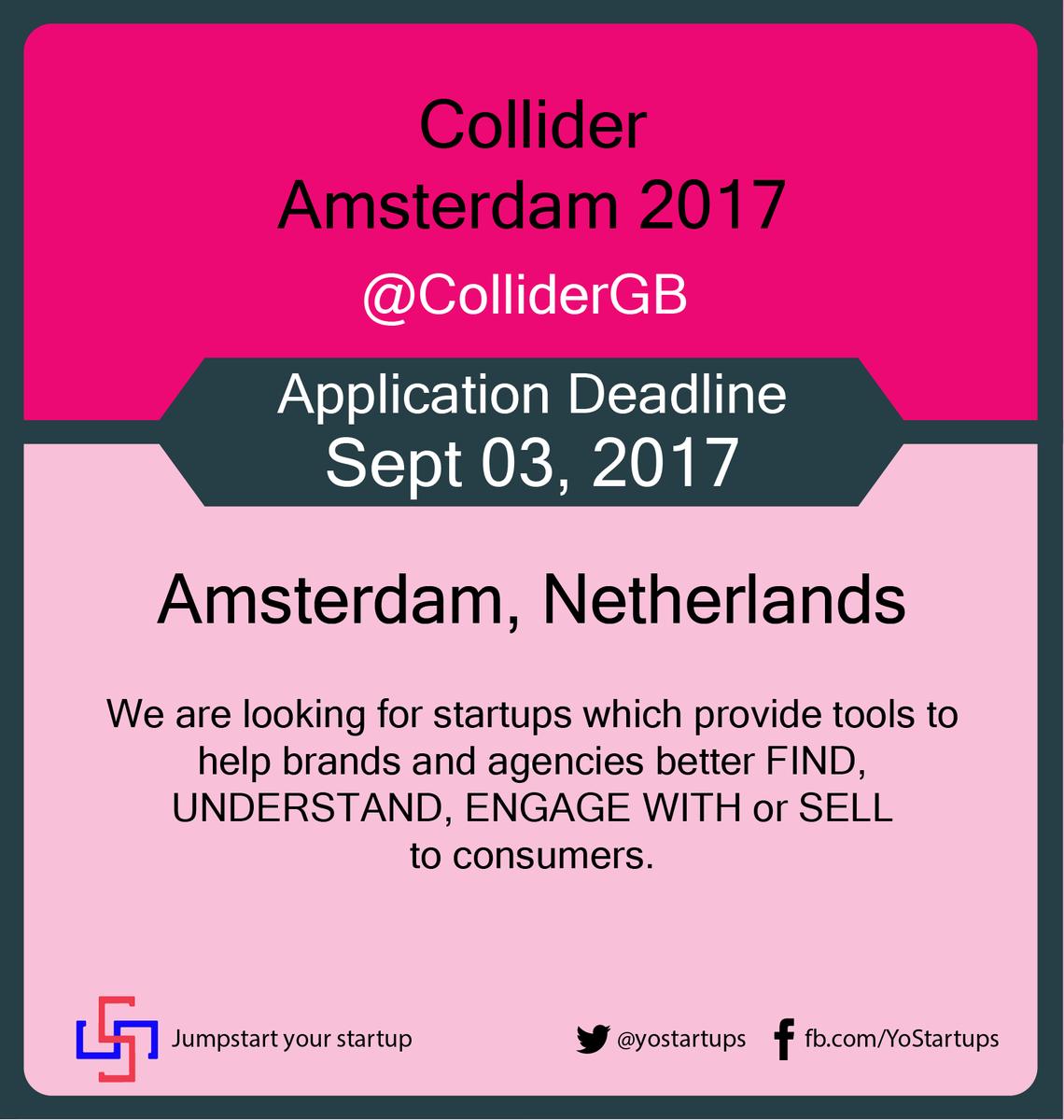 Checkout @ColliderGB accelerating #MadTech startups to UK &amp; Amsterdam markets #accelerator #YoStartups  https:// goo.gl/W8qoJL  &nbsp;  <br>http://pic.twitter.com/T82SHoQUfO