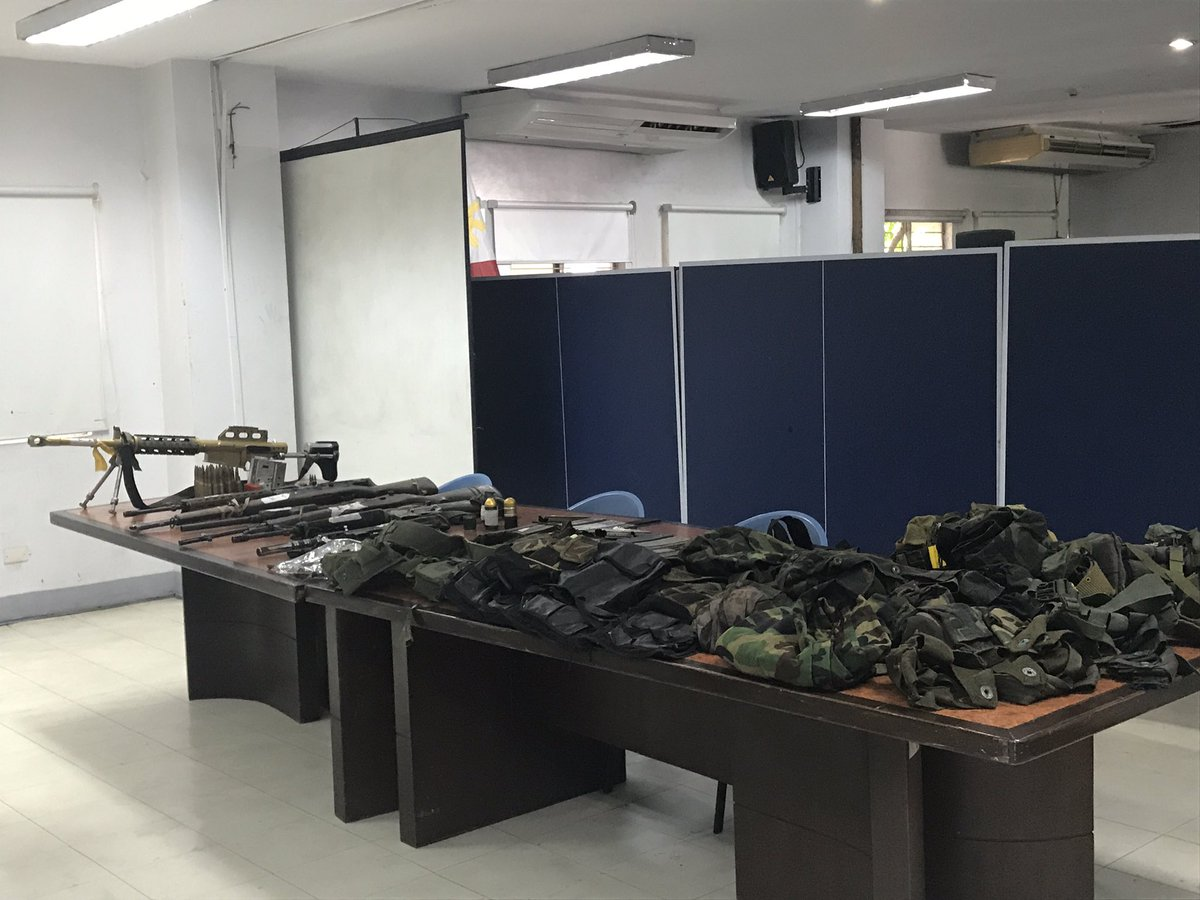 LOOK: Suspected Abu Sayyaf members facing complaint for rebellion and illegal possession of firearms & explosives. @T2TupasINQ