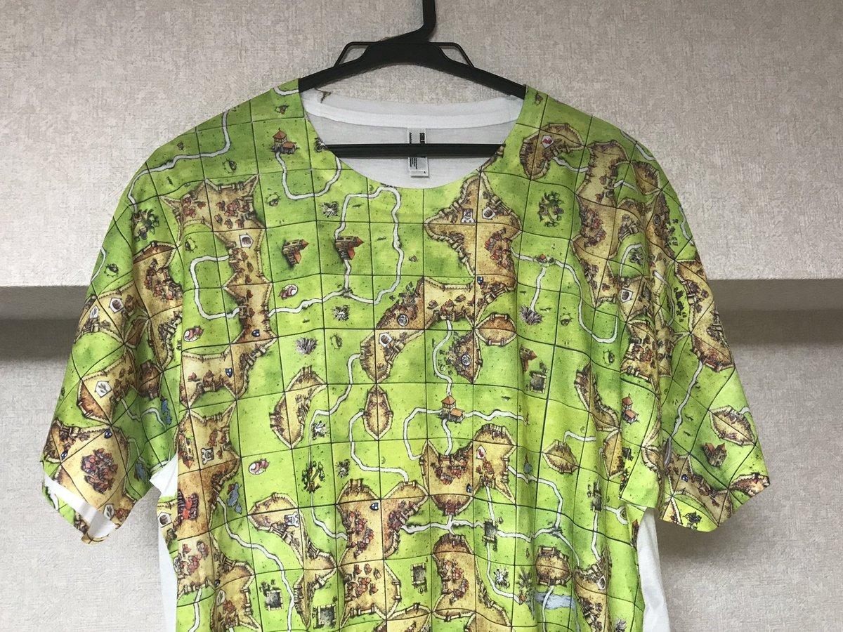 カルカソンヌのTシャツをゲット。次回のボードゲーム会にこれを着ていく! https://t.co/ZjRZ82r2rx