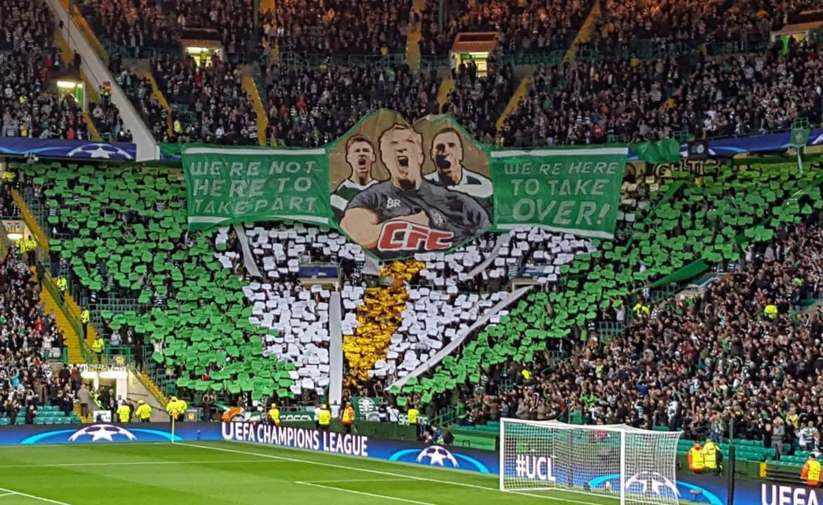 Celtic Football Club STAND UP!!!  This is what die hard support from your fans looks like!  What a sight! What a team!  Thank you all!