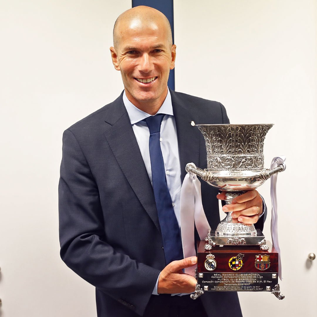#Zidane has won ALL of his finals as #RealMadrid coach!  Champions League  UEFA Super Cup  FIFA Club World Cup  Spanish Super Cup <br>http://pic.twitter.com/sCWCwu94T3