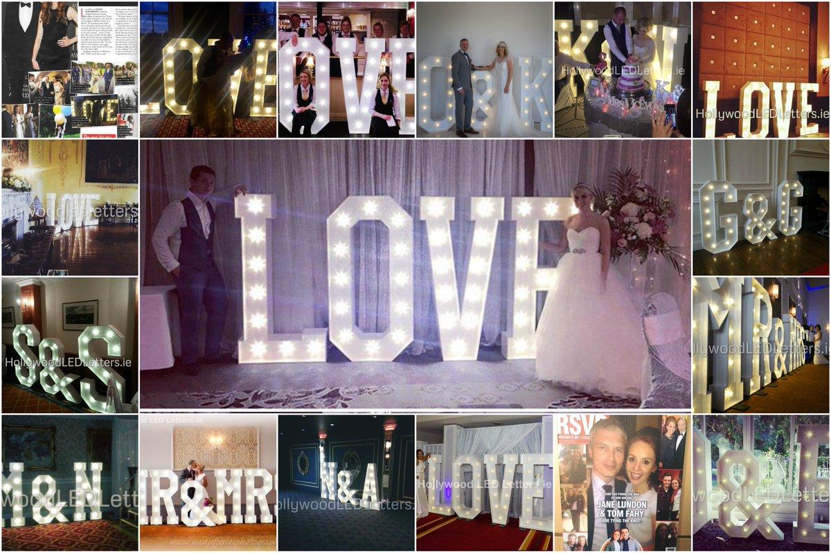 #hollywoodledletters #lightupletters #Ireland make a  beautiful backdrop #weddings  #marquee #loveletters #eventprofs #bridetobe #initials<br>http://pic.twitter.com/XMtDG5CayJ