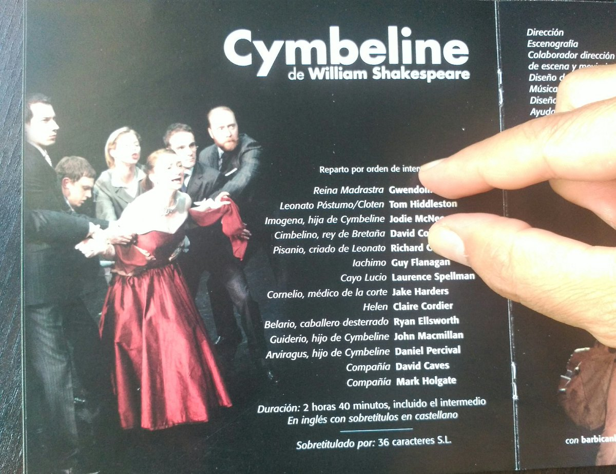 Great memories! @CbyJ in #Madrid 10 years ago with Cymbeline and... Loki #TomHiddleston! We loved the performance<br>http://pic.twitter.com/zw1ZEr0b7M