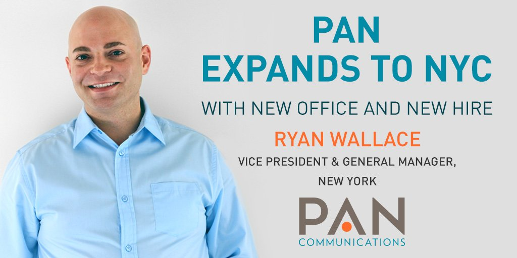 JUST ANNOUNCED: PAN is expanding to #NYC, with a new office now open &amp; new hire, VP &amp; GM @ryanmwallace!  http:// bit.ly/2wdoRsI  &nbsp;   #PR <br>http://pic.twitter.com/lB1n67cE6s