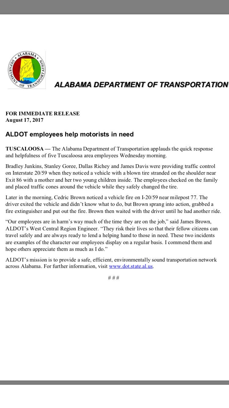 ALDOT West Central on Twitter: