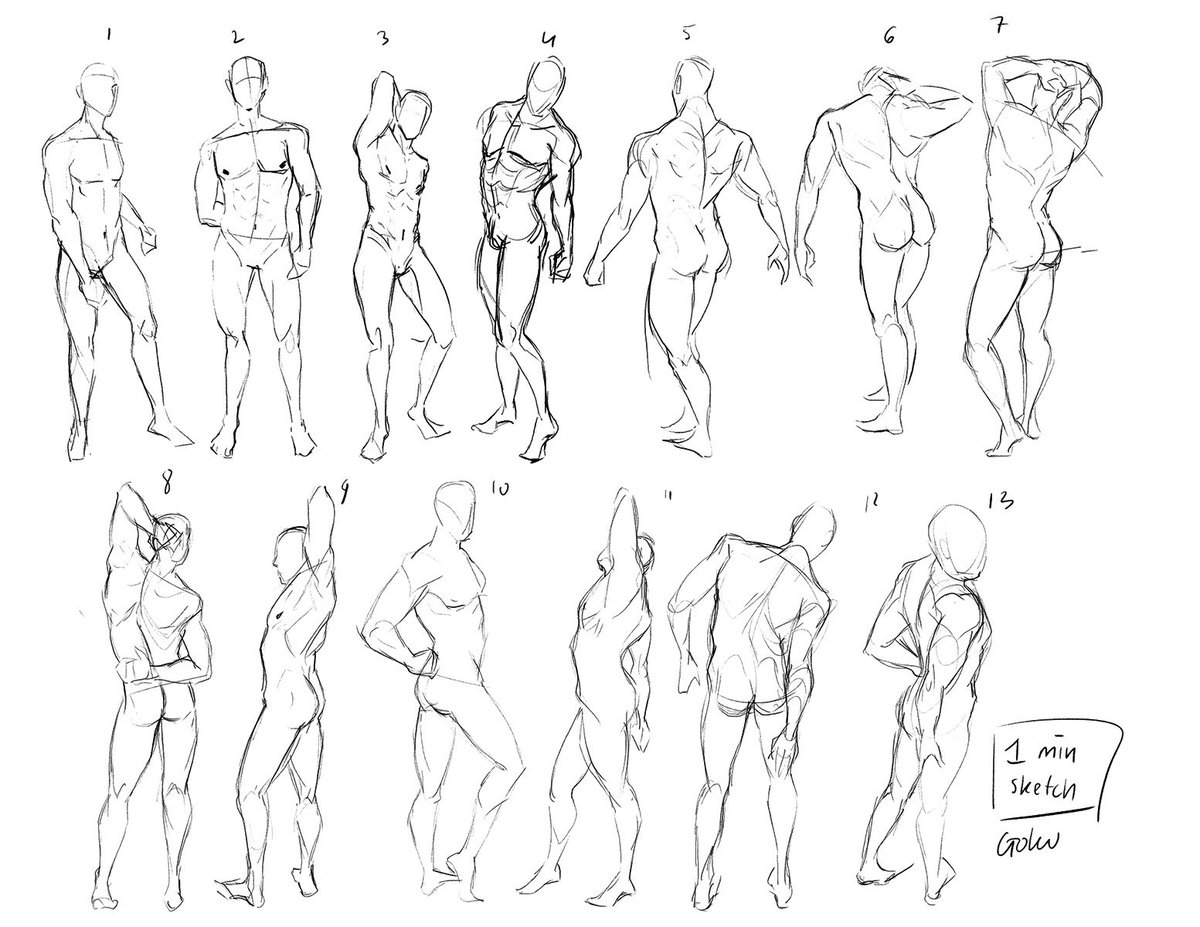 1 - 1,5 min each pose :3!  Practice practice~ #pose #drawing #figure <br>http://pic.twitter.com/2I4cCtDWiH