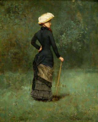 Art &gt; Peinture - Emile HOETERICKX Elegant at the Garden Playin &gt;&gt;  http:// bit.ly/2i9M74P  &nbsp;   #peinture <br>http://pic.twitter.com/0zIpftTkT8