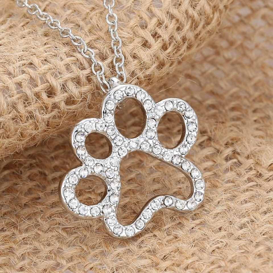 18k White #Gold Plated #Crystal #Dog Paw #Pendant #Chain  http:// ebay.co.uk/itm/1625343315 74 &nbsp; …  #spdc #sbutd #flockbn #BritHour #UKhashtags #ukbiz <br>http://pic.twitter.com/8wu8a5RZft