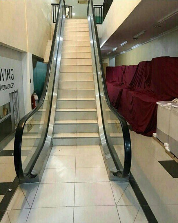 Ceci est un escalator dans un club de fitness 😄
