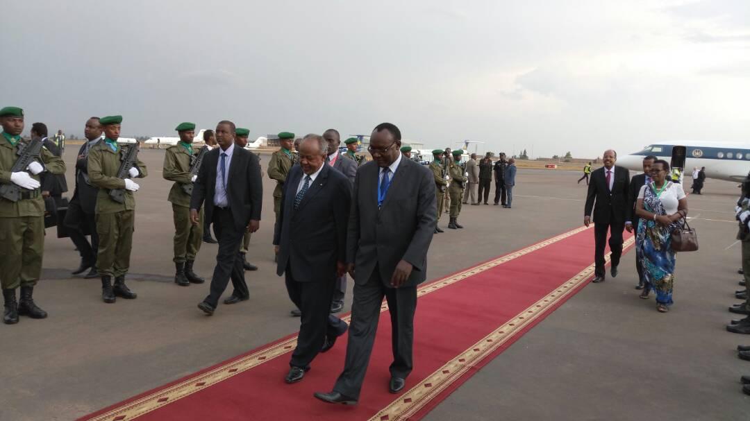 Next to arrive for #KagameInauguration is the President of Djibouti Is...