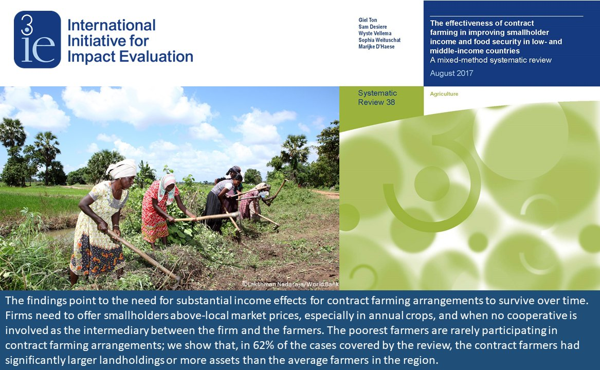#New #systematicreview examines the effectiveness of contract #farming in low- and middle-income countries  http:// bit.ly/3ieSR38  &nbsp;  <br>http://pic.twitter.com/u9IgSBItQp
