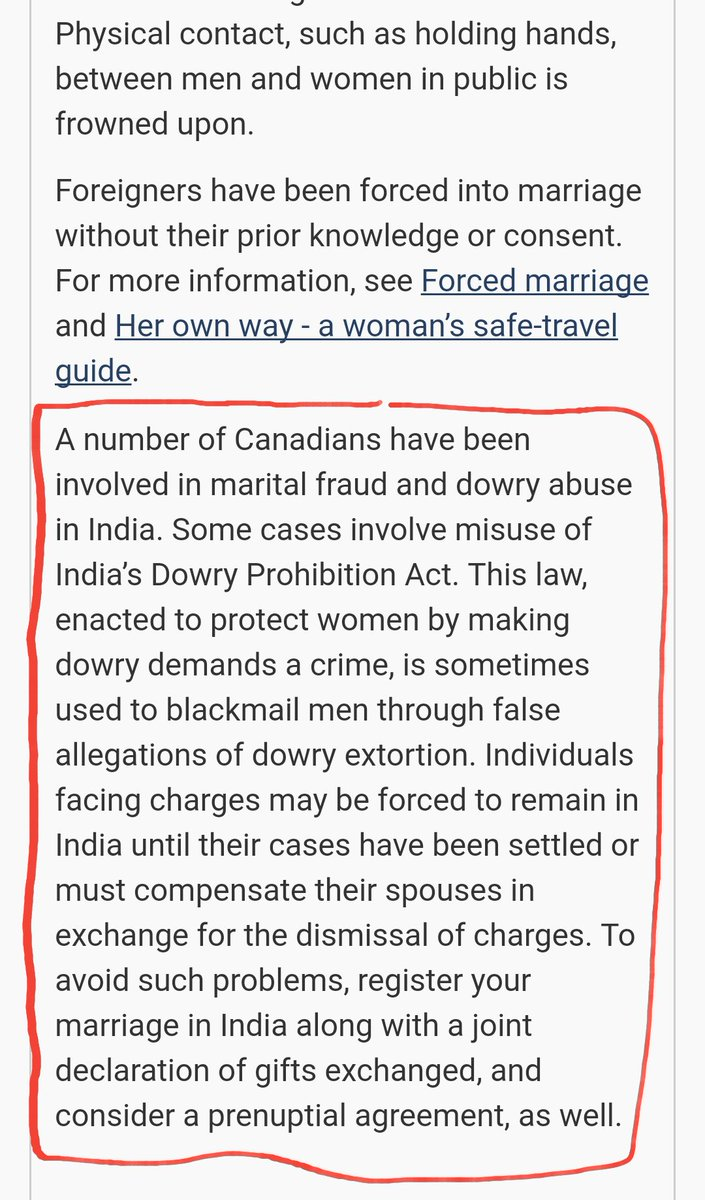 Even #Canadian #traveladvisory warns about #misuse of indian #genderbiased laws #FakeCases #scrap498a #savemen  https:// travel.gc.ca/destinations/i ndia#mb-pnl &nbsp; … <br>http://pic.twitter.com/ZKvF00cX0R