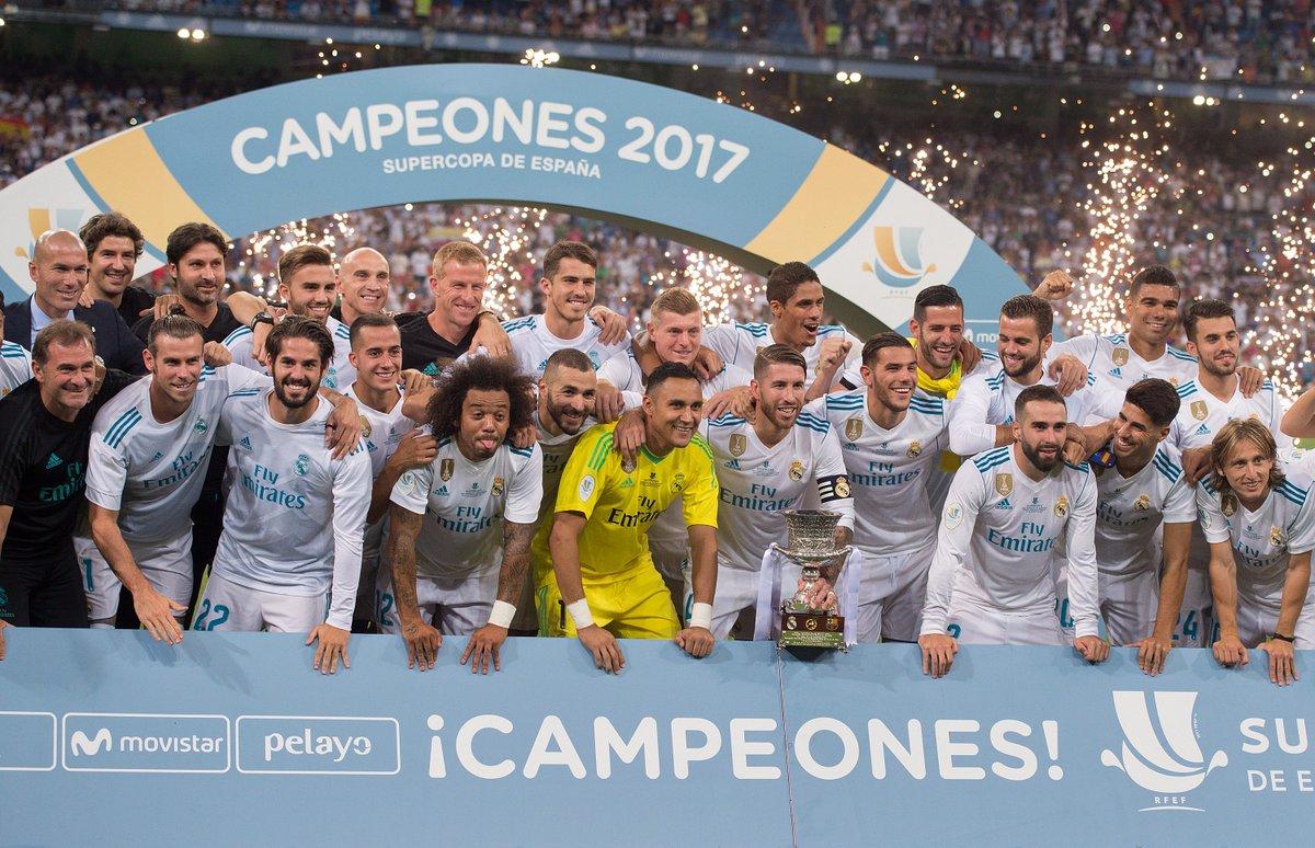 Real Madrid in 2017...  Champions League 🏆 Liga 🏆 UEFA Super Cup 🏆 Spa...