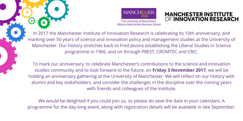 SAVE THE DATE: Join us on 3 November to celebrate our tenth - and fiftieth-ish - anniversary! #scipolicy #innovation<br>http://pic.twitter.com/gtrkCNwIpf