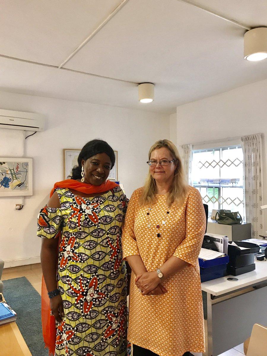 Great discussions with HE Ambassador #Sweden @ingeruMFAse #Nigeria in order to #LeaveNoOneBehind  @mabinguengom1 @SwedeninNigeria<br>http://pic.twitter.com/YrNzEvyM0N