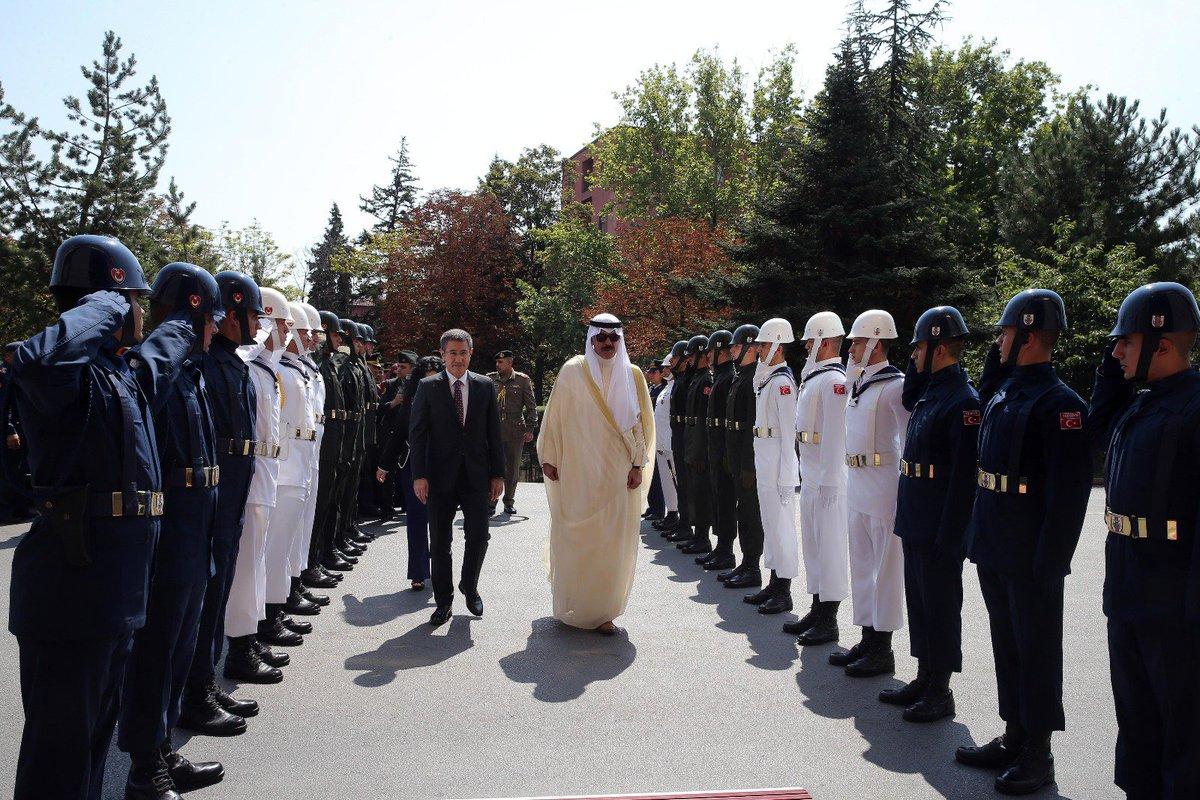 وزير الدفاع التركي يستقبل نظيره الكويتي في العاصمة أنقرة DHbF3LgW0AEp_V9