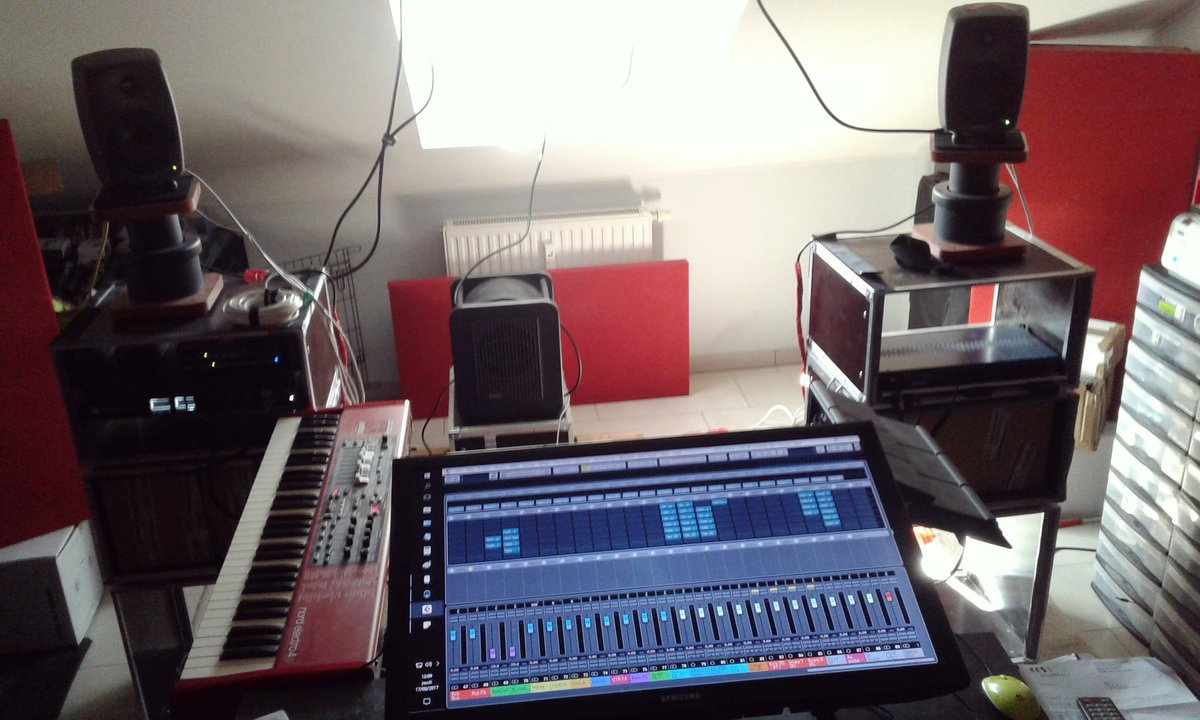 Nord &amp; DTX back in studio. Actual musician-like musicianship could take place  #recordingstudio #nord #yamaha #musicproducer #musicmaking<br>http://pic.twitter.com/uYxrtI5iwo