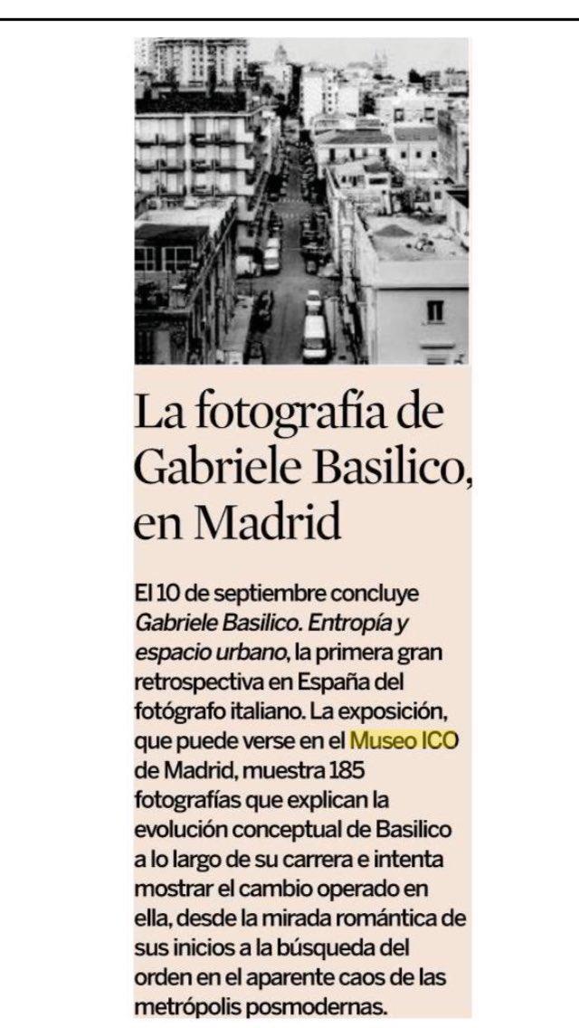 la fotografa de gabriele basilico en el museo ico museoico madrid va
