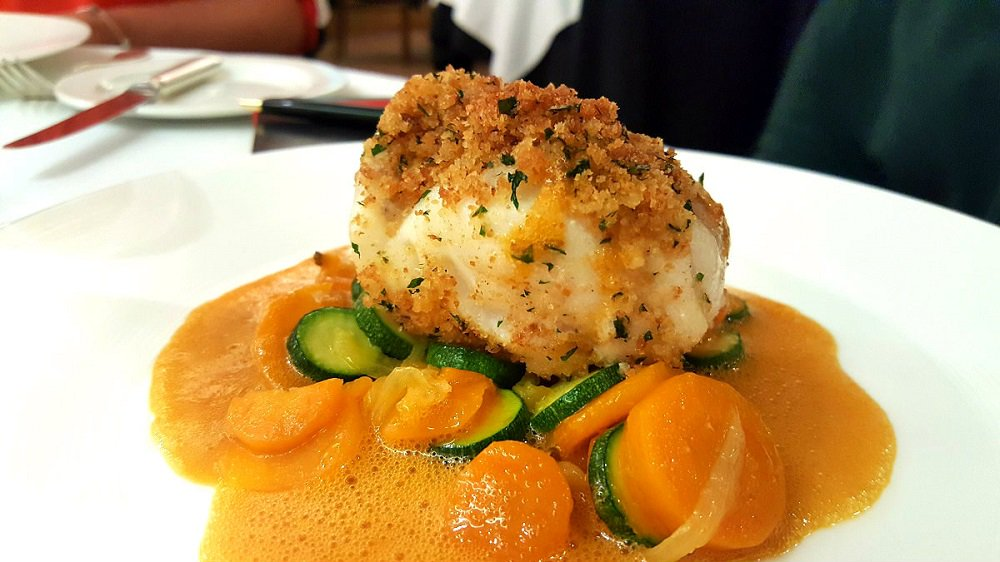 #Herb #crusted #monkfish with #vegetables and #bouillabaisse #sauce. Our #alacarte from Frederick Forster. #citydining #foodie #fish<br>http://pic.twitter.com/k4rr6HgDUk