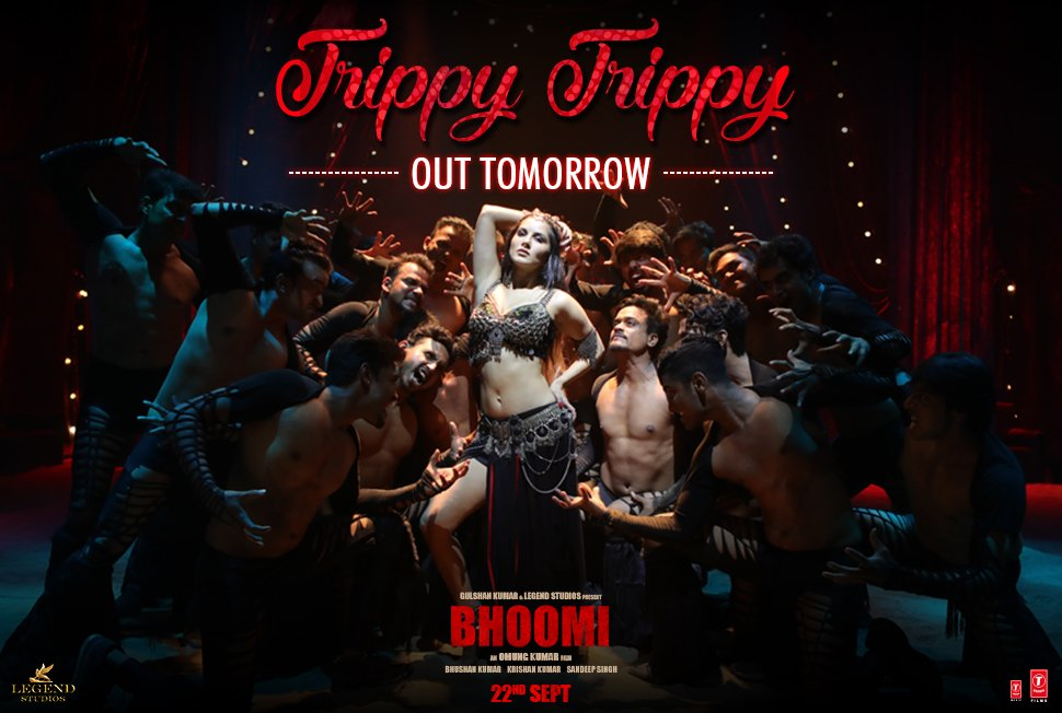 #TrippyTrippy out tomorrow!! Our first song from #Bhoomi feat. @SunnyL...
