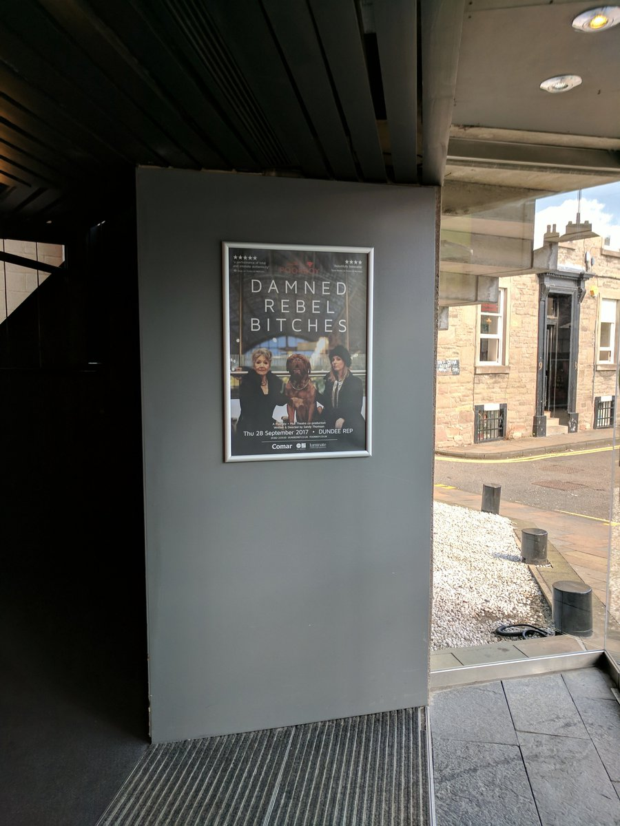 Nice to see our new poster looking fabulous in situ at @DundeeRep - catch us there 28 Sep. #dundee  http://www. poorboy.co.uk/rebel  &nbsp;   @Comar_Arts<br>http://pic.twitter.com/Jej5tlfCvk