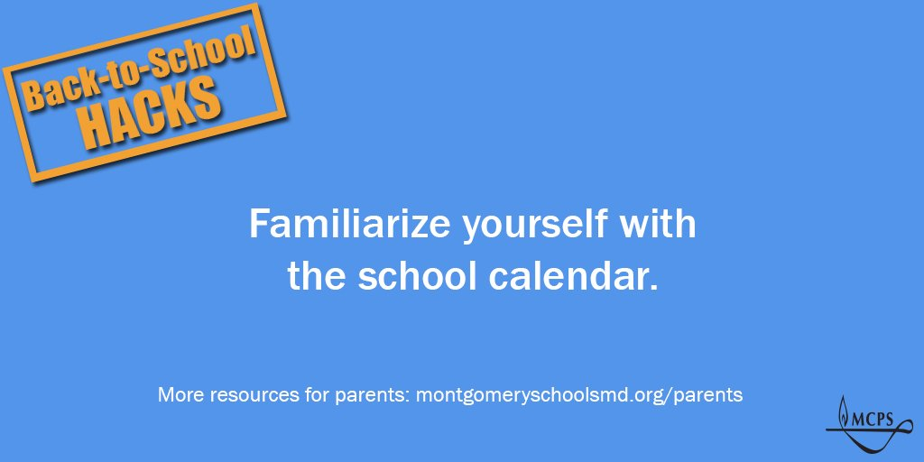 Mcps On Twitter Be Sure To Check Out The School Calendar Remember