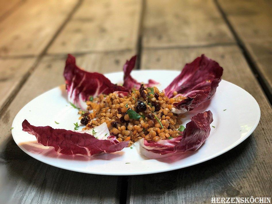 Salat rote linsen vegan