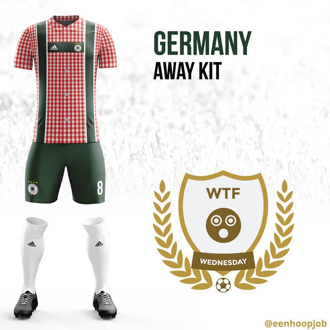 Germany Away Kit Design #DieMannschaft #soccer #lederhosen https://t.c...