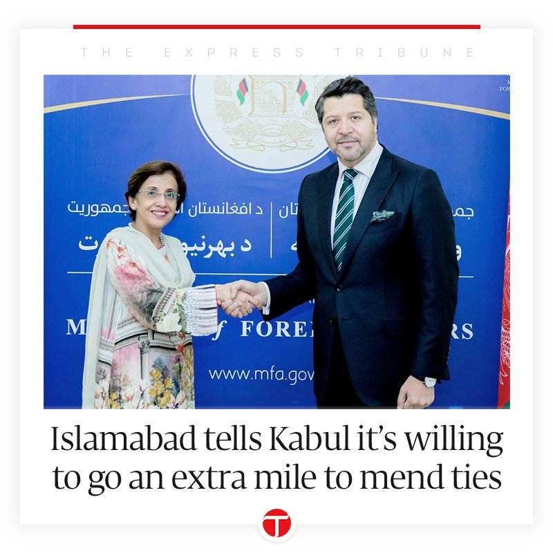 Islamabad tells Kabul it's willing to go an extra mile to mend ties https://t.co/C3D9gVHiFn