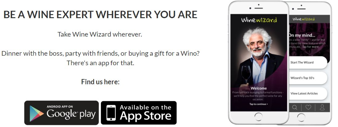 Dinner with the boss, party with friends, or buying a gift for a wino? There&#39;s a #WineWizard app for that!  http:// ow.ly/6Iih30etwUb  &nbsp;   #wine #SA <br>http://pic.twitter.com/ie1CzngkZ4
