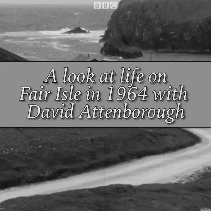 "BBC on Twitter: ""A trip back in time to Fair Isle in 1964 with ..."