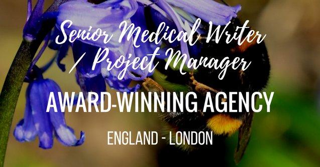 JOB ALERT! Senior Medical Writer/Project Manager, award-winning global #medcomms agency, Medical Education, #London:  http:// bit.ly/2w9bERT  &nbsp;  <br>http://pic.twitter.com/2NNlLaf0Ja