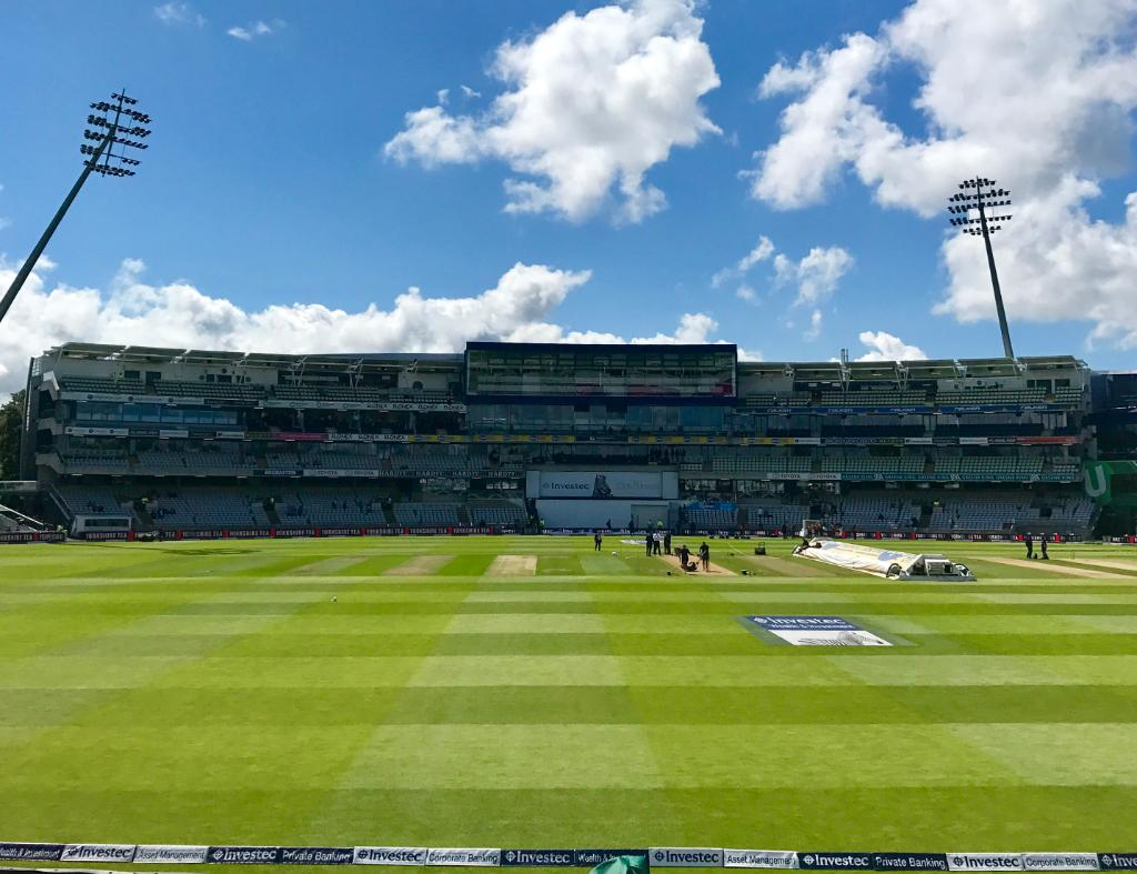 Welcome to Edgbaston! The first day-night Test in England starts at 2p...