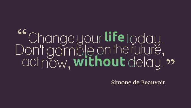 &quot;Change your life today. Don&#39;t gamble on the future, act now, without delay.&quot; #motivation #actorslife #casting #actorsuk #actors <br>http://pic.twitter.com/LfLUhRhBQc