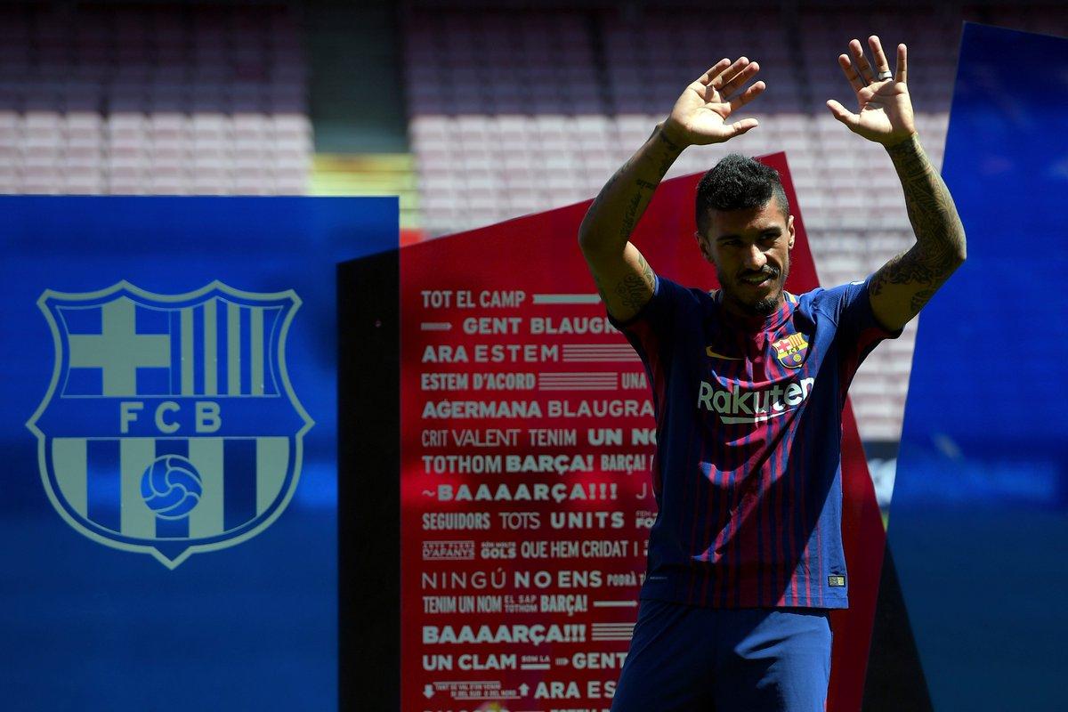 🇧🇷 New Barcelona signing Paulinho. #UCL https://t.co/Q05XEaCyvw