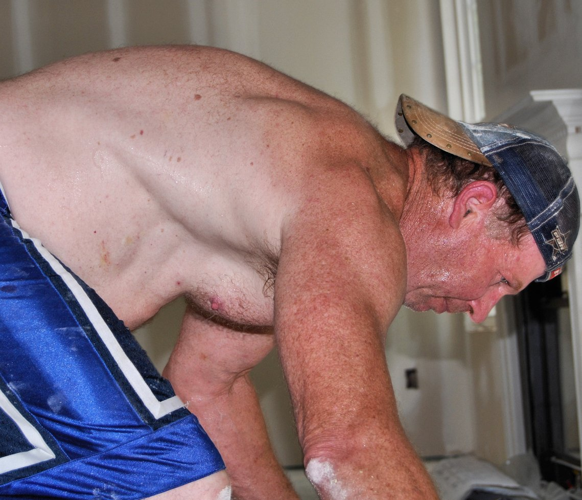My NC carpenter bud from  http:// GLOBALFIGHT.com  &nbsp;   #man #working #shirtless #men #noshirt #sweaty #sweating #redneck #daddy #hairy #chest #guy<br>http://pic.twitter.com/IsXuZFMXTp