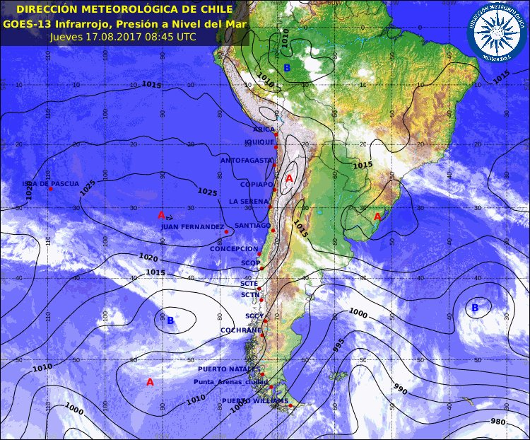 Front associated with storm approaching S #Chile will bring scattered rain/mountain snow to C Chile Friday night. #Santiago<br>http://pic.twitter.com/ne9SaaBloJ