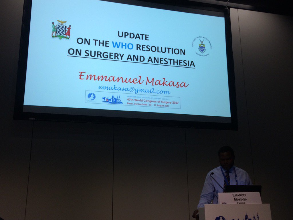 Thank you @emakasa for your update on the #WHO Resolution on #GlobalSurgery @GSCommission @theG4Alliance @GICSurgery<br>http://pic.twitter.com/SSdxaczplD