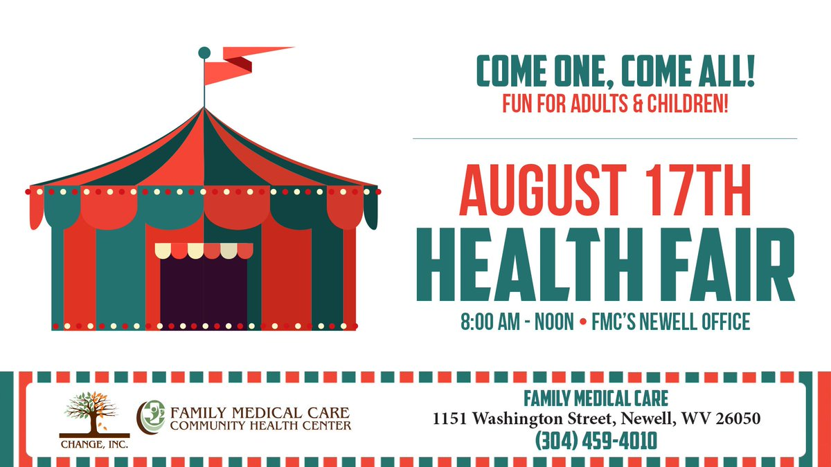 Our #NHCW17 Health Fair in Newell is happening NOW until noon! Pics to follow shortly!  http:// ow.ly/QWP830etFsY  &nbsp;   #ValueCHCs #CommunityAction <br>http://pic.twitter.com/iRO8DZpZKI