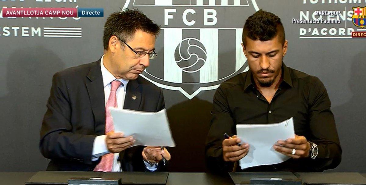 «heu pourquoi c'est écrit Verratti ?»  #Paulinho #Barcapic.twitter.com/WP6hREsLAn