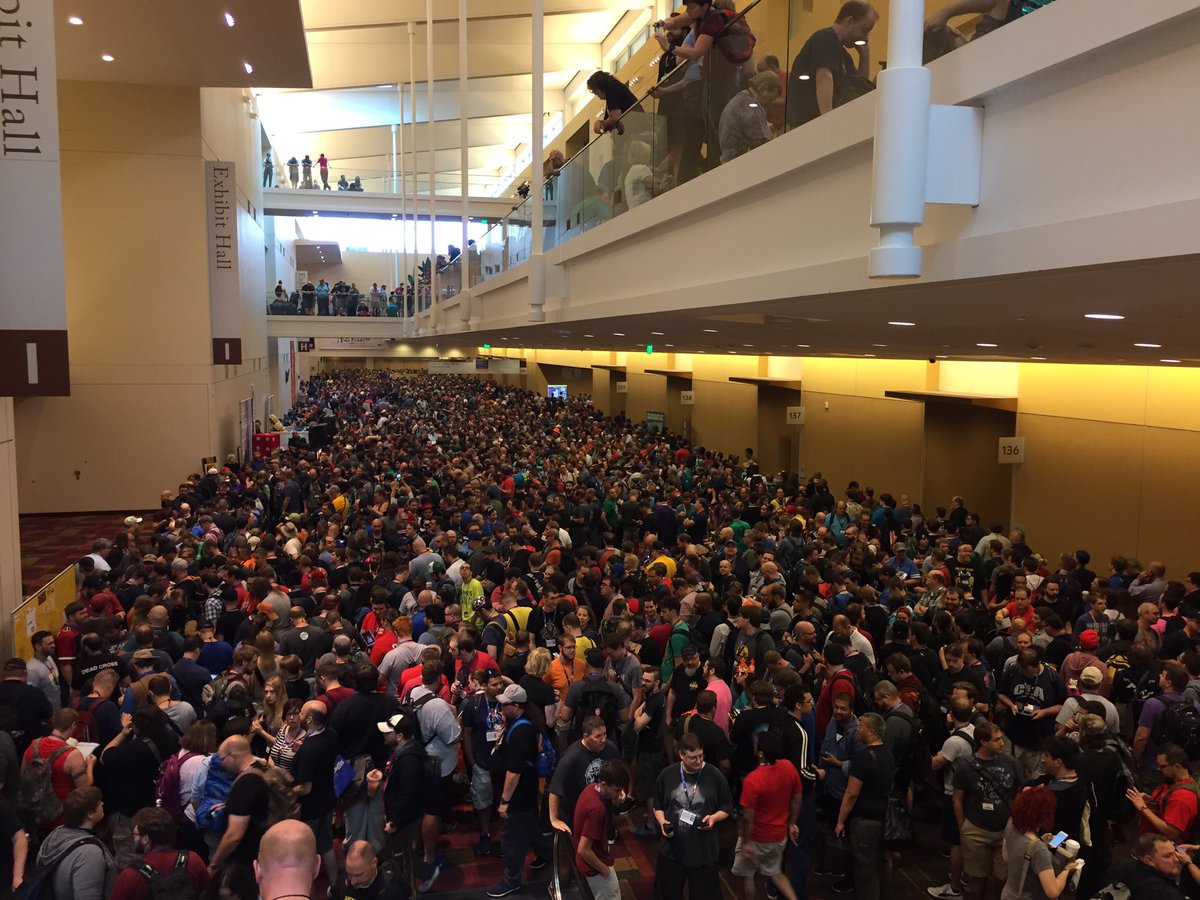 Doors to #GenCon50 open in an hour and a few people have already start...